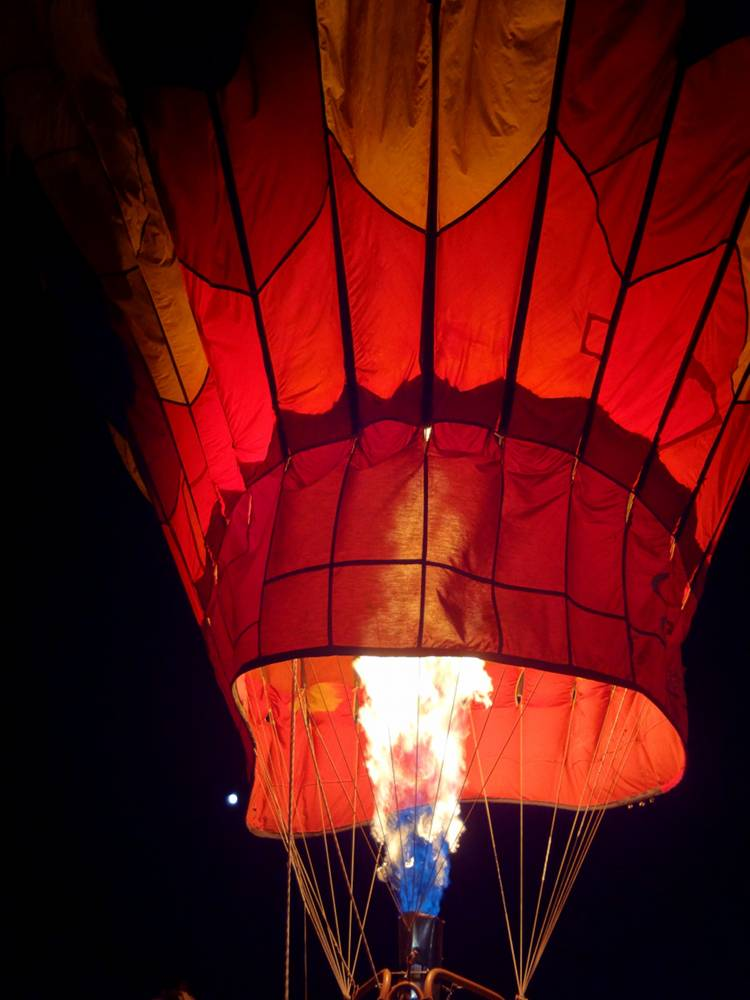 Fired Up Hot Air Balloon During the Balloon Glow