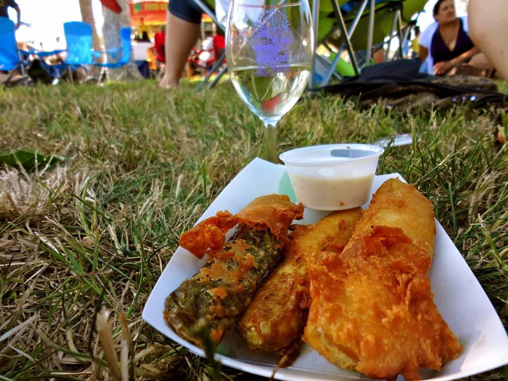 Fried Pickles at the Wine and Balloon Festival