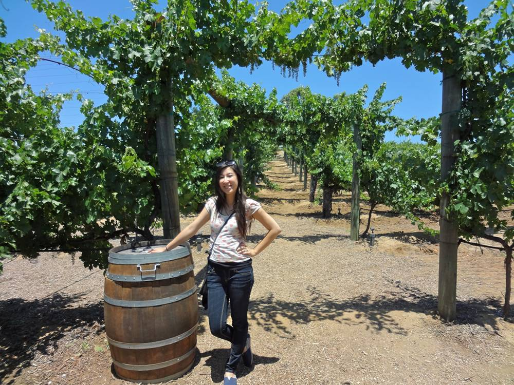 Michele at the Wilson Creek Winery in Temecula