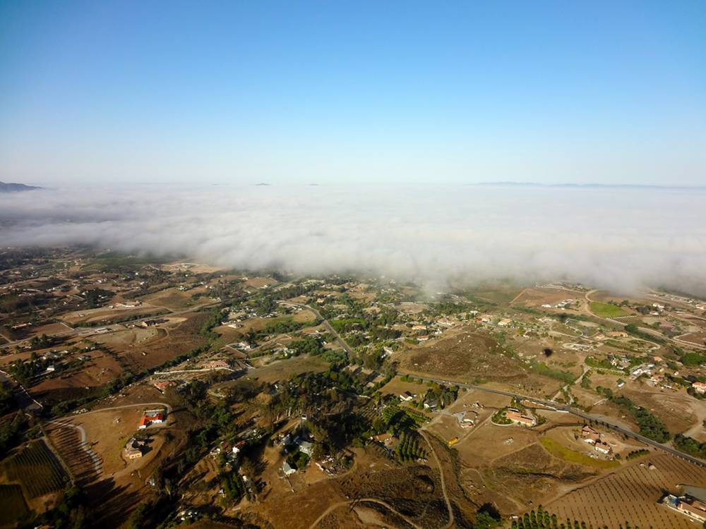 Rolling Fog Over Temecula California