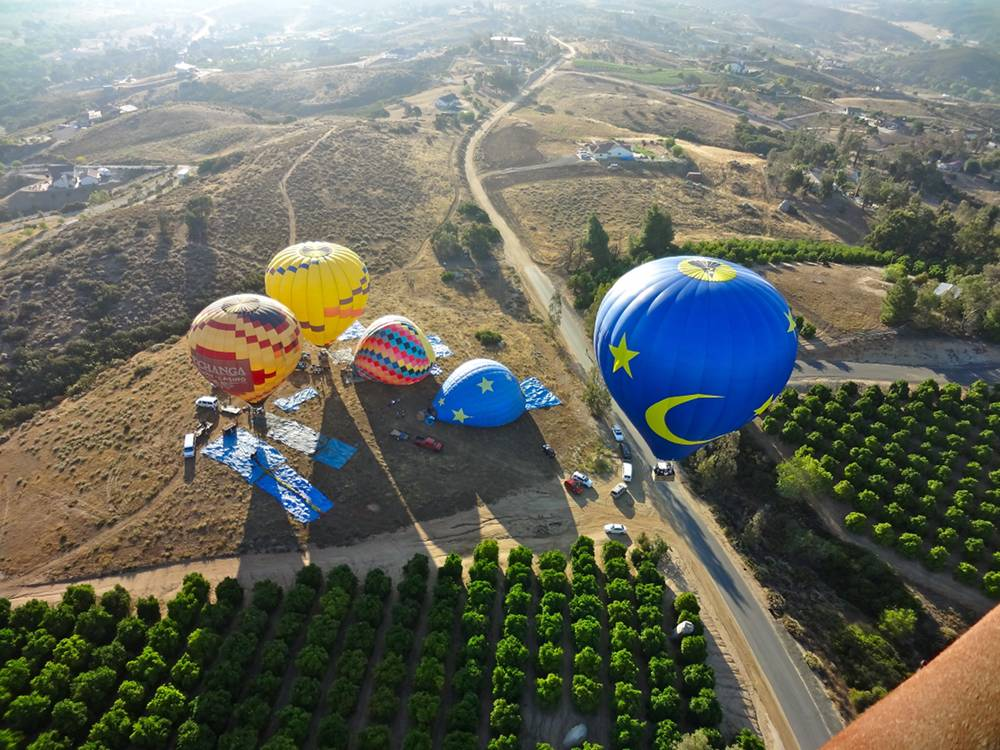 View of Hot Air Balloons During Takeoff