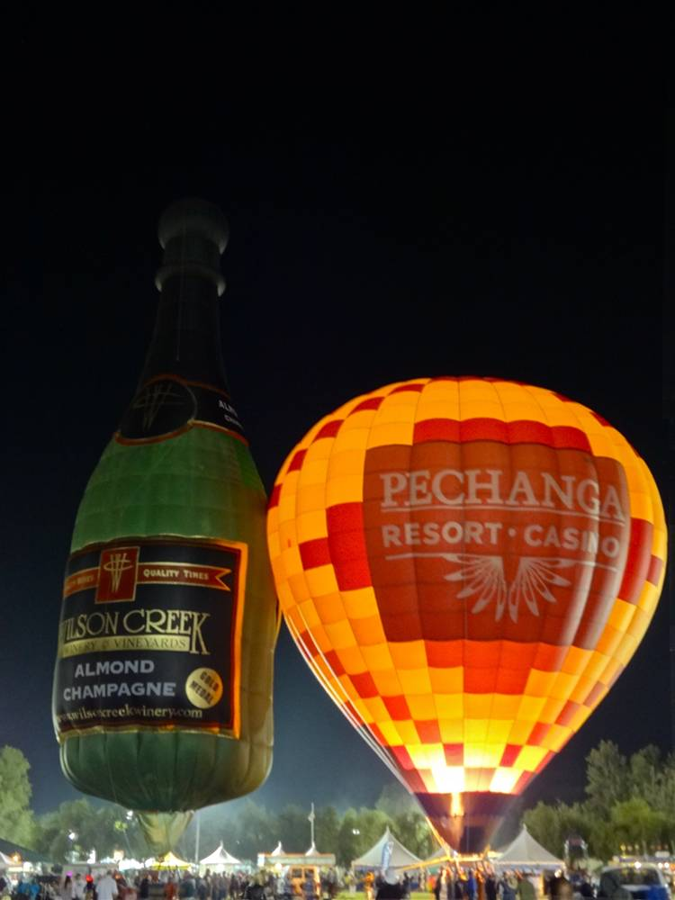Wilson Creek Winery Hot Air Balloon at the Wine and Balloon Festival