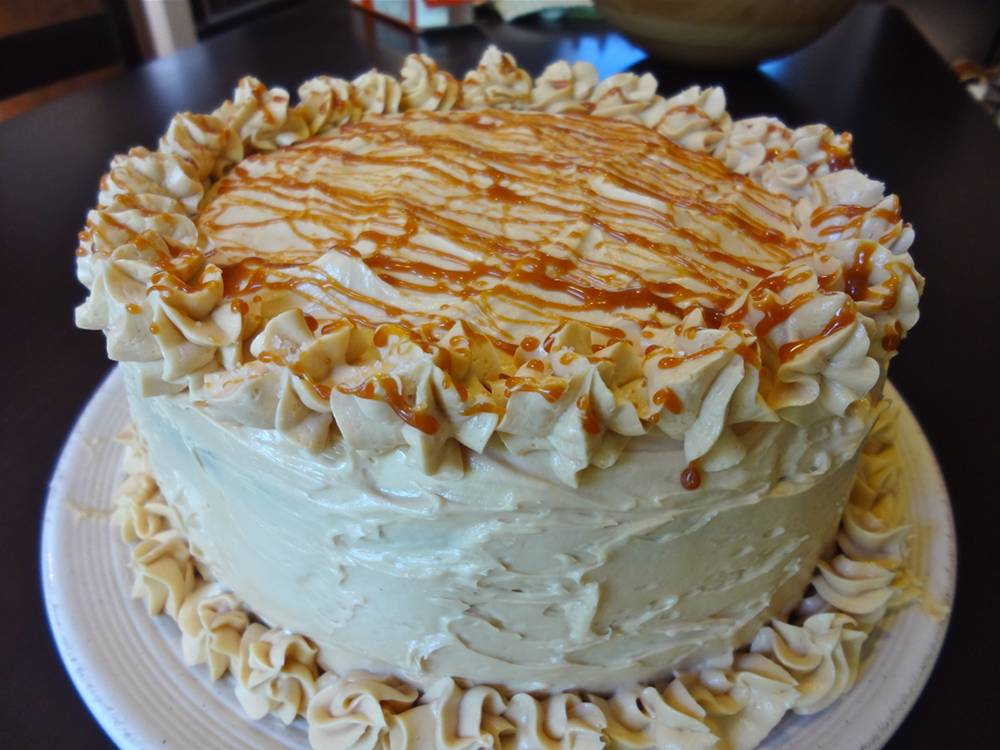 Chocolate and Salted Caramel Whiskey Birthday Cake