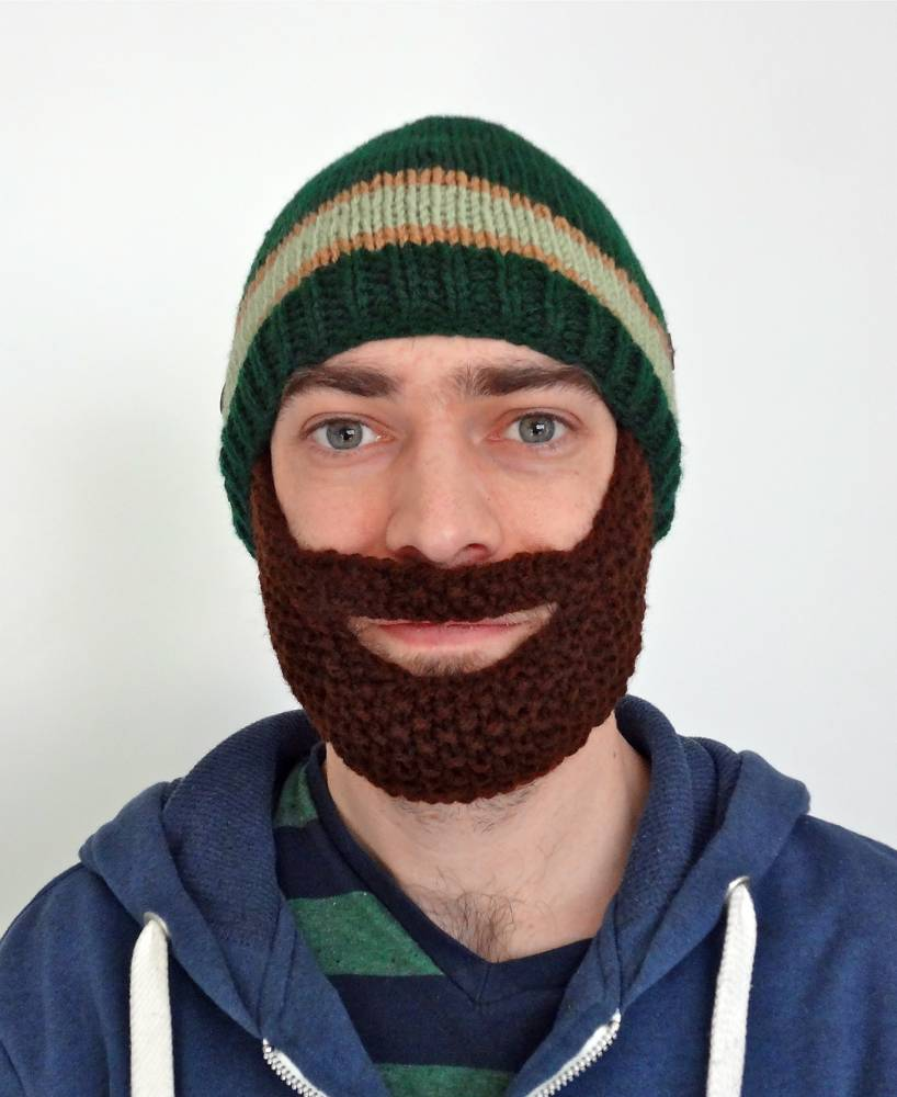 DIY Knit Beard Hat Pattern